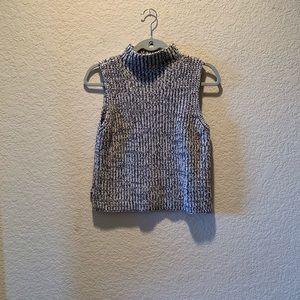 Madewell mock neck sleeveless sweater, size S